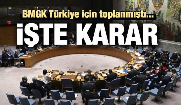 Son dakika haber: BMGK Türkiye için toplanmıştı... İşte karar
