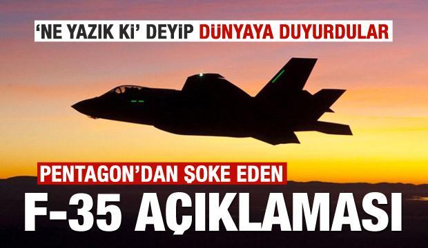 ABD Savunma Bakanlığı'ndan son dakika F-35 açıklaması!
