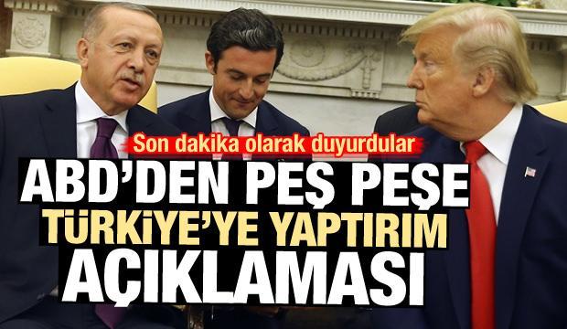 ABD'den peş peşe Türkiye'ye yaptırım açıklamaları