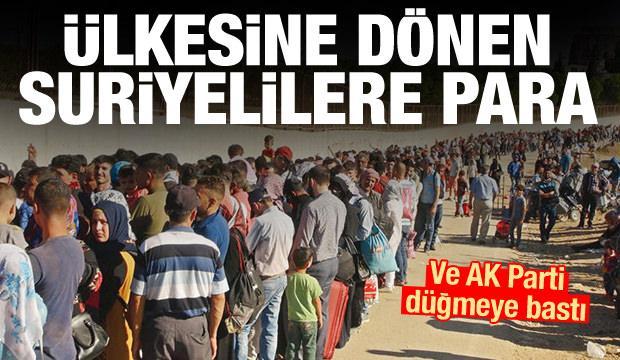AK Parti düğmeye bastı! Ülkesine dönen Suriyelilere para verilecek
