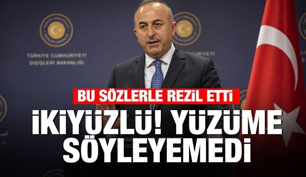 Çavuşoğlu'ndan AP Başkanı'na: İkiyüzlü, yüzüme karşı söyleyemedi