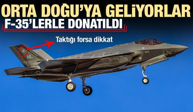 F-35'lerle donatıldı! Orta Doğu'ya geliyorlar, taktığı forsa dikkat