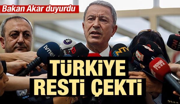 Türkiye'den F-35 resti! Bakan Akar duyurdu...