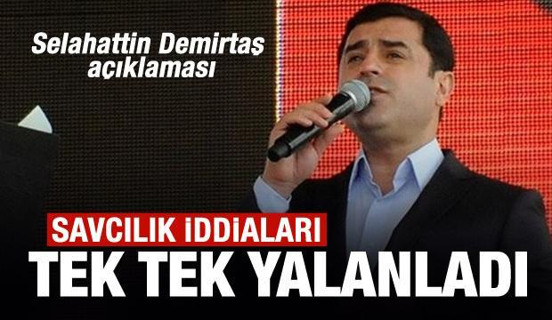 Cumhuriyet Başsavcılığı'ndan Selahattin Demirtaş açıklaması