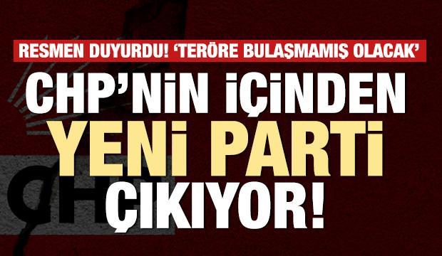 CHP'nin içinden yeni parti çıkıyor! Resmen açıkladı