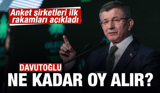 Ahmet Davutoğlu'na kötü haber! İlk rakamlar...