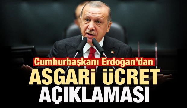 Son dakika: Erdoğan'dan asgari ücret açıklaması