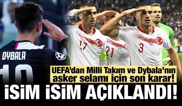 UEFA, Milli Takım için asker selamı kararını açıkladı!