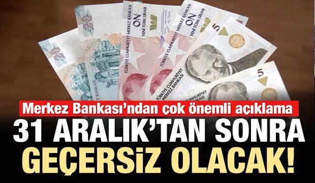 Merkez Bankası duyurdu: 31 Aralık son tarih