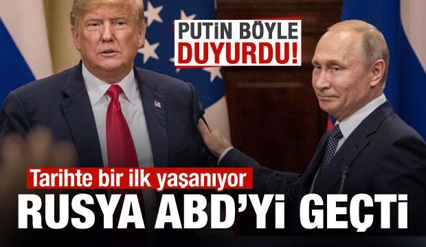 Putin duyurdu: Tarihte bir ilk yaşanıyor, ABD'yi geçtik!
