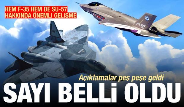 Açıklamaları peş peşe geliyor! F-35 ve Su-57 gündemi sarstı