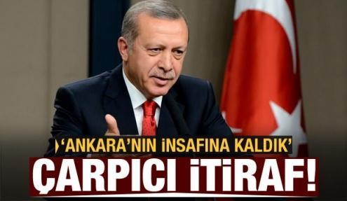 Çarpıcı itiraf! Ankara'nın insafına kaldık!