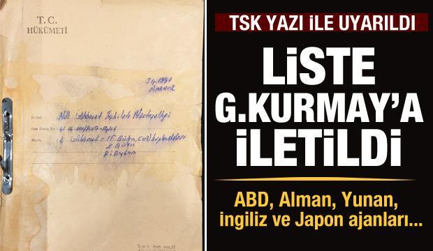 Liste Genelkurmay'a iletildi! FETÖ CIA'ya yardım ediyor