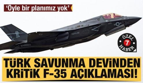 Türk savunma devi Kale Havacılık'tan kritik F-35 açıklaması! Öyle bir planımız yok