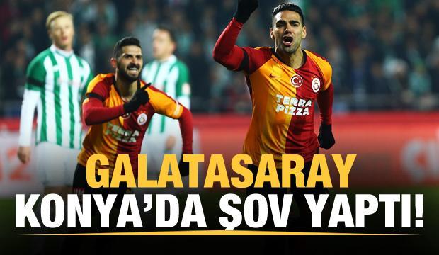 Galatasaray Konya'da şov yaptı!