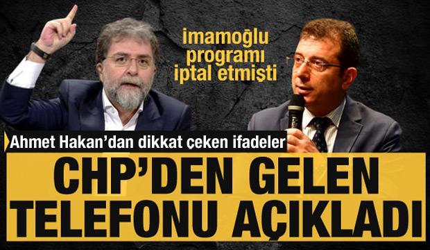 Ahmet Hakan'dan İmamoğlu'na: Rozeti belki ilk seçimde aklına getirir