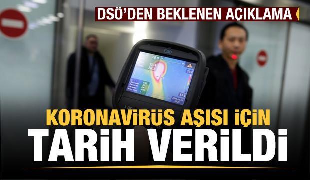 DSÖ'den dünyanın beklediği son dakika koronavirüs açıklaması! Aşı için zaman verildi