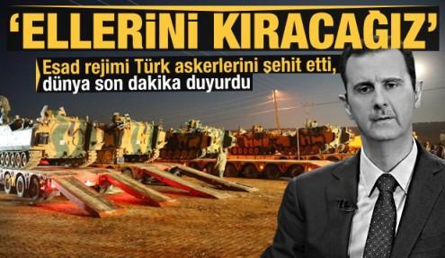 Esad rejimi Türk askerlerini şehit etti, dünya böyle gördü: Ellerini kıracağız