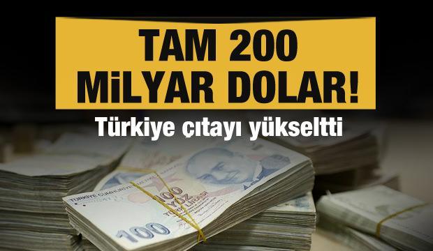 Türkiye çıtayı yükseltti! Tam 200 milyar dolar