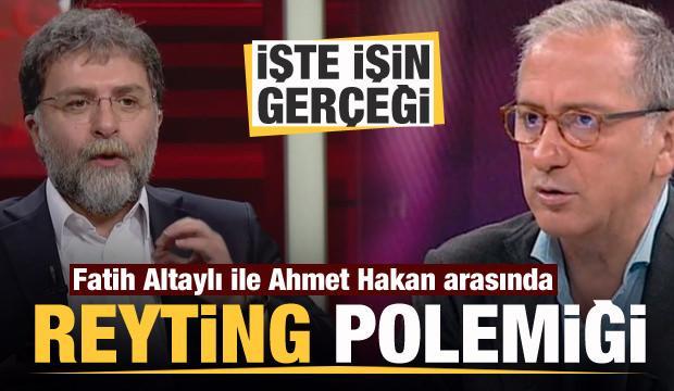 Fatih Altaylı ile Ahmet Hakan arasında reyting polemiği: İşte işin gerçeği