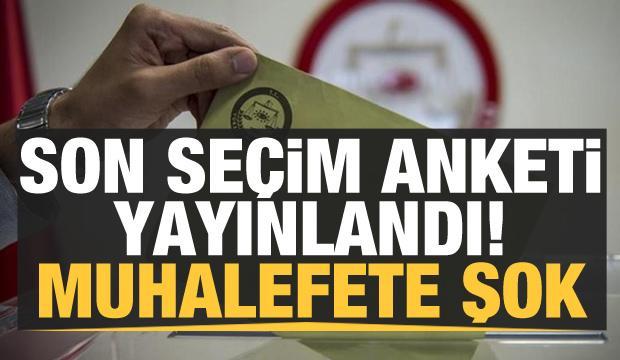 Son seçim anketi yayınlandı! Muhalefete şok