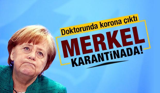Angela Merkel kendisini karantinaya aldı