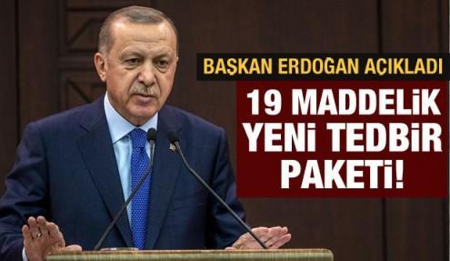 Başkan Erdoğan'dan koronavirüsle ilgili son dakika açıklamalar