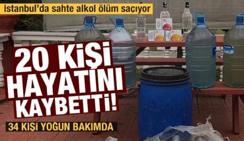 İstanbul'da sahte alkolden ölenlerin sayısı 20'ye yükseldi