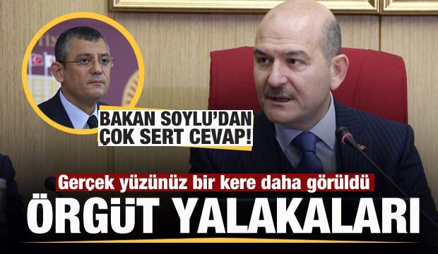 Bakan Soylu'dan CHP'li Özgür Özel'e çok sert yanıt: Örgüt yalakaları
