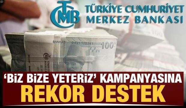 'Biz bize yeteriz' kampanyasına Merkez Bankası'ndan dev destek!