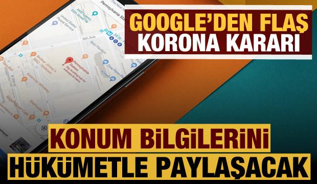 Google'dan koronavirüs kararı: Konumları hükümetle paylaşacak