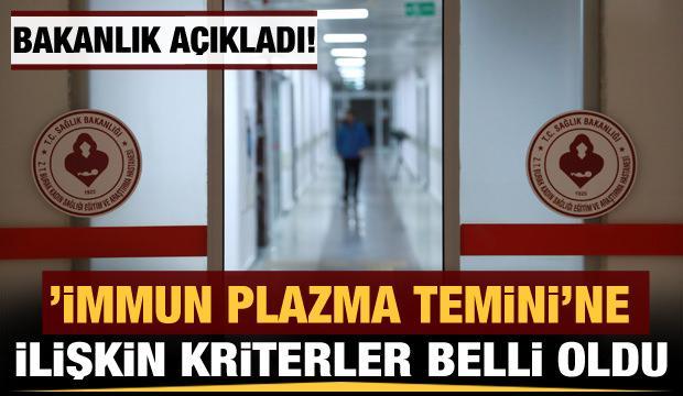 """Sağlık Bakanlığı """"immün plazma temini""""ne ilişkin kriterleri belirledi"""