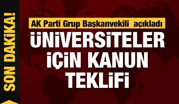 AK Parti'den üniversitelere için kanun teklifi