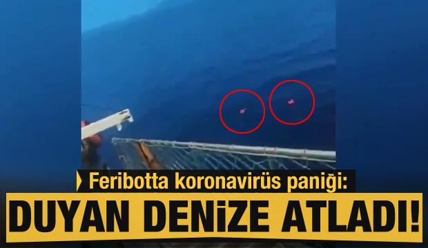 Endonezya'da feribottaki personelin koronavirüs olduğunu duyan yolcular denize atladı