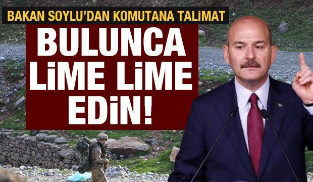 İçişleri Bakanı Soylu'dan bölge komutanına PKK talimatı: Bulunca lime lime edin!
