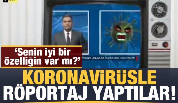 Irak televizyonu koronavirüsle röportaj yaptı: Senin iyi bir özelliğin var mı?
