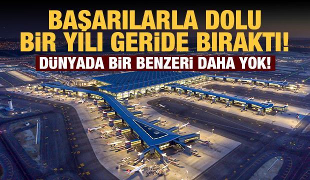 İstanbul Havalimanı'nda başarılarla dolu bir yıl! Dünyayı hayran bıraktı...
