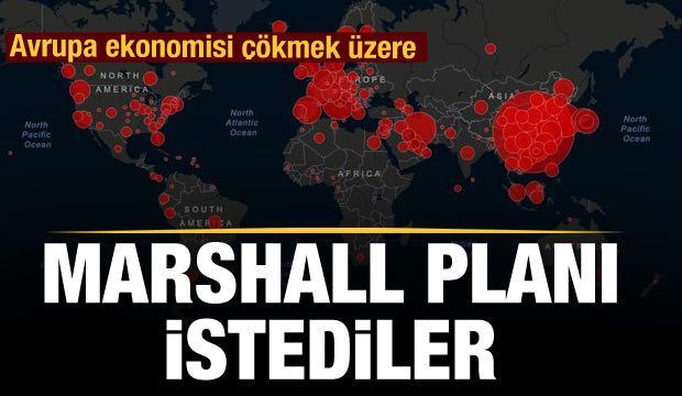 Koronavirüs ekonomileri çökertti Marshall Planı istediler