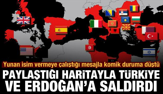 Koronavirüs yardımları zoruna giden Yunan gazeteci bu haritayla Türkiye ve Erdoğan'a saldırdı
