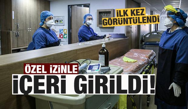 Koronavirüsü yenen hastalar özel izinle görüntülendi