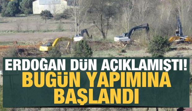 İstanbul'daki salgın hastanelerinin yapımına başlandı