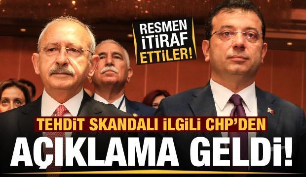 Son dakika: CHP'den Ekrem İmamoğlu'nu tehdit eden şahısla ilgili açıklama! İtiraf ettiler