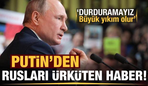Putin'den halkı korkutan haber: Ekonomiyi durduramayız, büyük yıkım olur!