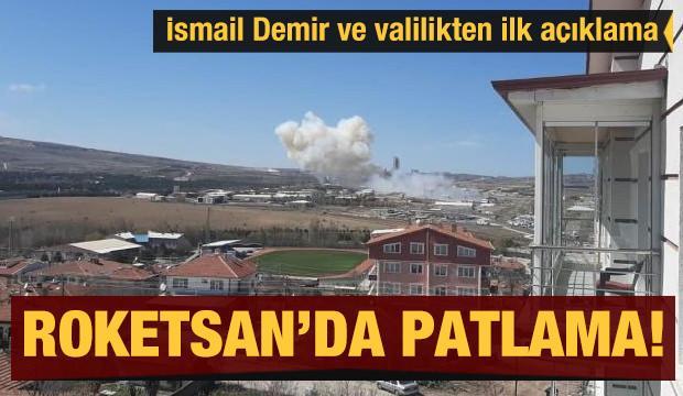Son dakika... Roketsan'da patlama! İsmail Demir'den ilk açıklama
