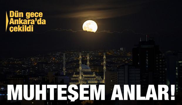 Türkiye'den muhteşem 'Süper Ay' manzaraları