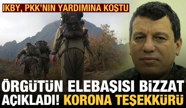 Terörist Mazlum Kobani'den Neçirvan Barzani'ye koronavirüs teşekkürü! IKBY'den PKK'ya yardım