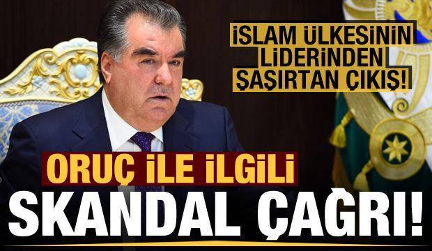 Tacikistan'dan oruç ile ilgili skandal çağrı!