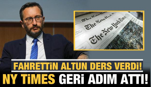 Fahrettin Altun ders verdi: NY Times geri adım attı