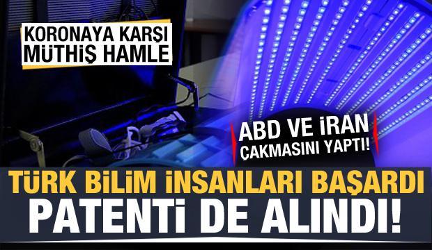 Türk bilim insanları geliştirdi, koronaya karşı müthiş hamle! ABD ve İran çakmasını yaptı