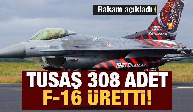 TUSAŞ 308 adet F-16 üretti